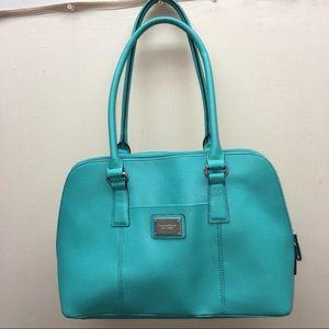 Tignanello Teal Leather Handbag Purse Shoulder bag